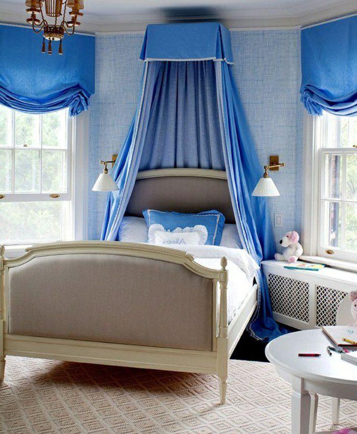 kinderzimmer einrichten ideen in blau und weiß magische atmosphäre ...