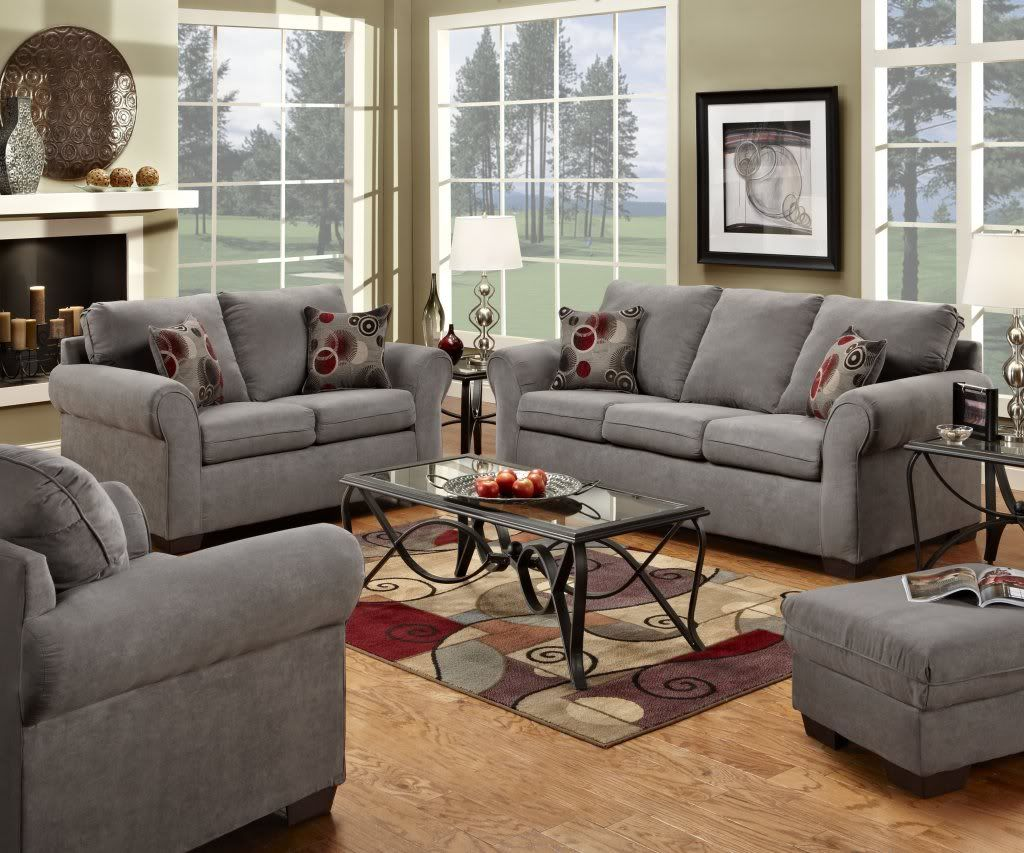 We Just Bought Some Grey Suede Couches Similar To These Me And My