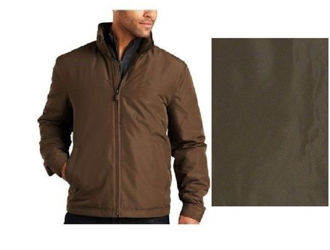 Dockers Lightweight Jacket Sport Tek zip front Olive Polyester ...