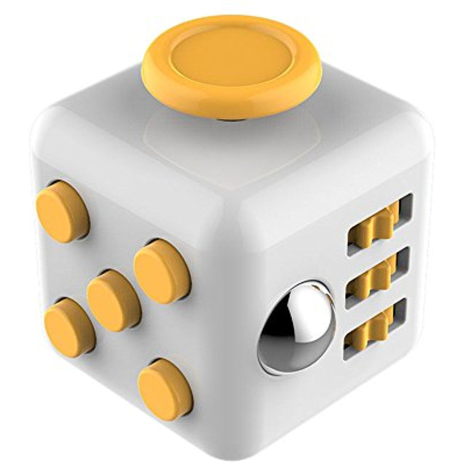 JOHN CABOT Fidget Cube Relieves Stress And Anxiety For Children Adults Yellow You Can Get More Details By Clicking On The Image