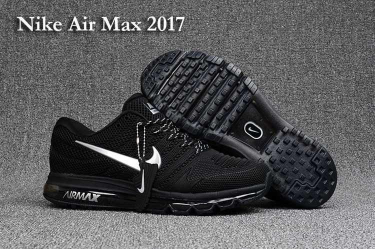 Nike Air Max 2017 Hot Running Shoes For Men Black Silver #ShoesForMen