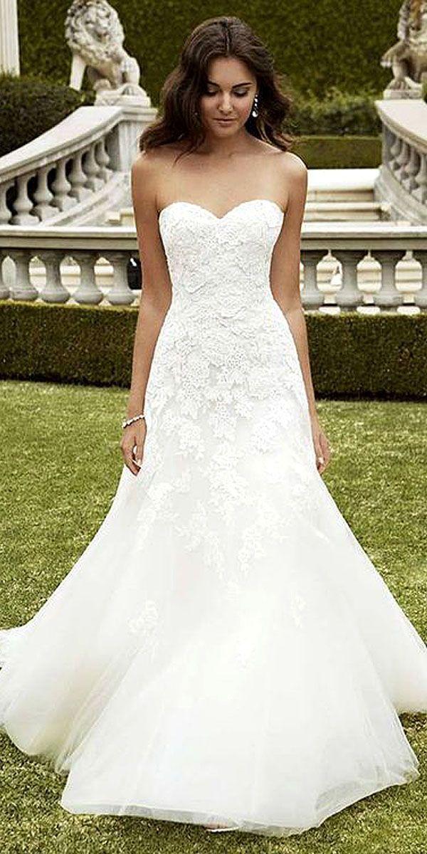 Simple Wedding Dresses For Elegant Brides ❤ See more: http://www ...