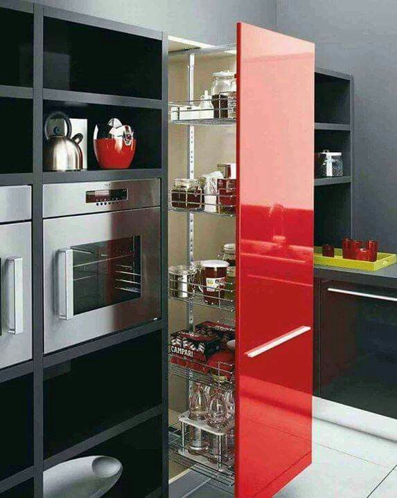 Marvelous Black And White Cabinets, Red Island Kitchen Design. Red, White And Black Kitchen  Cabinets Color Scheme. If You Are Looking For Some Sample Kitchen Cabinet