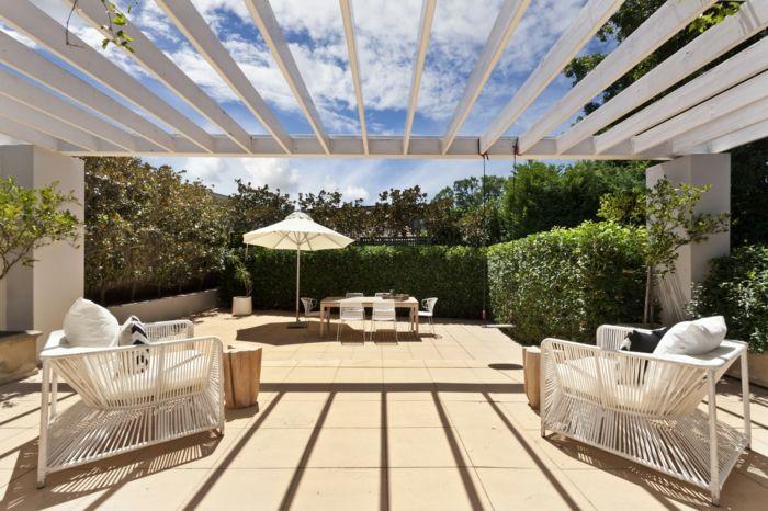 diseño de exteriores, propuesta de decoración de terrazas modernas