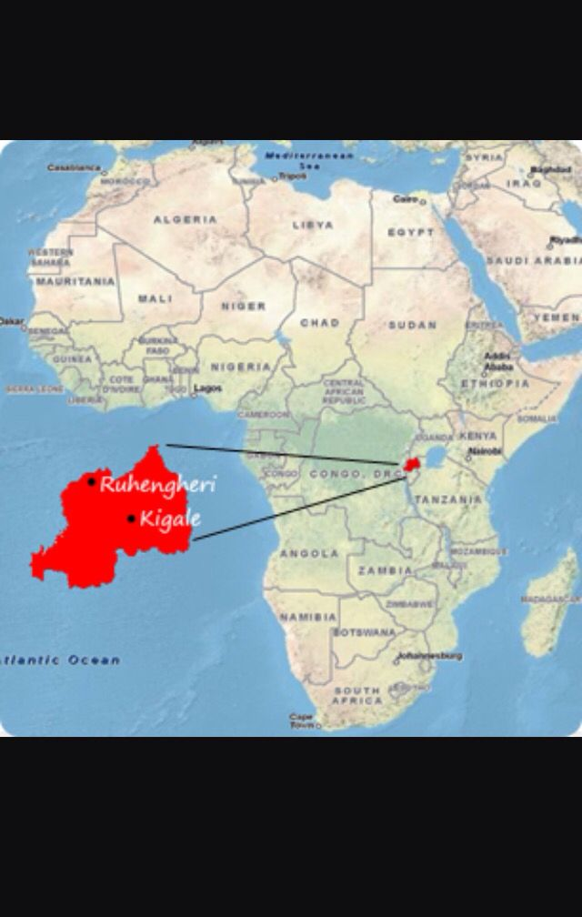 Map Of Africa With Rwanda Rwanda | East africa, Africa, Rwanda