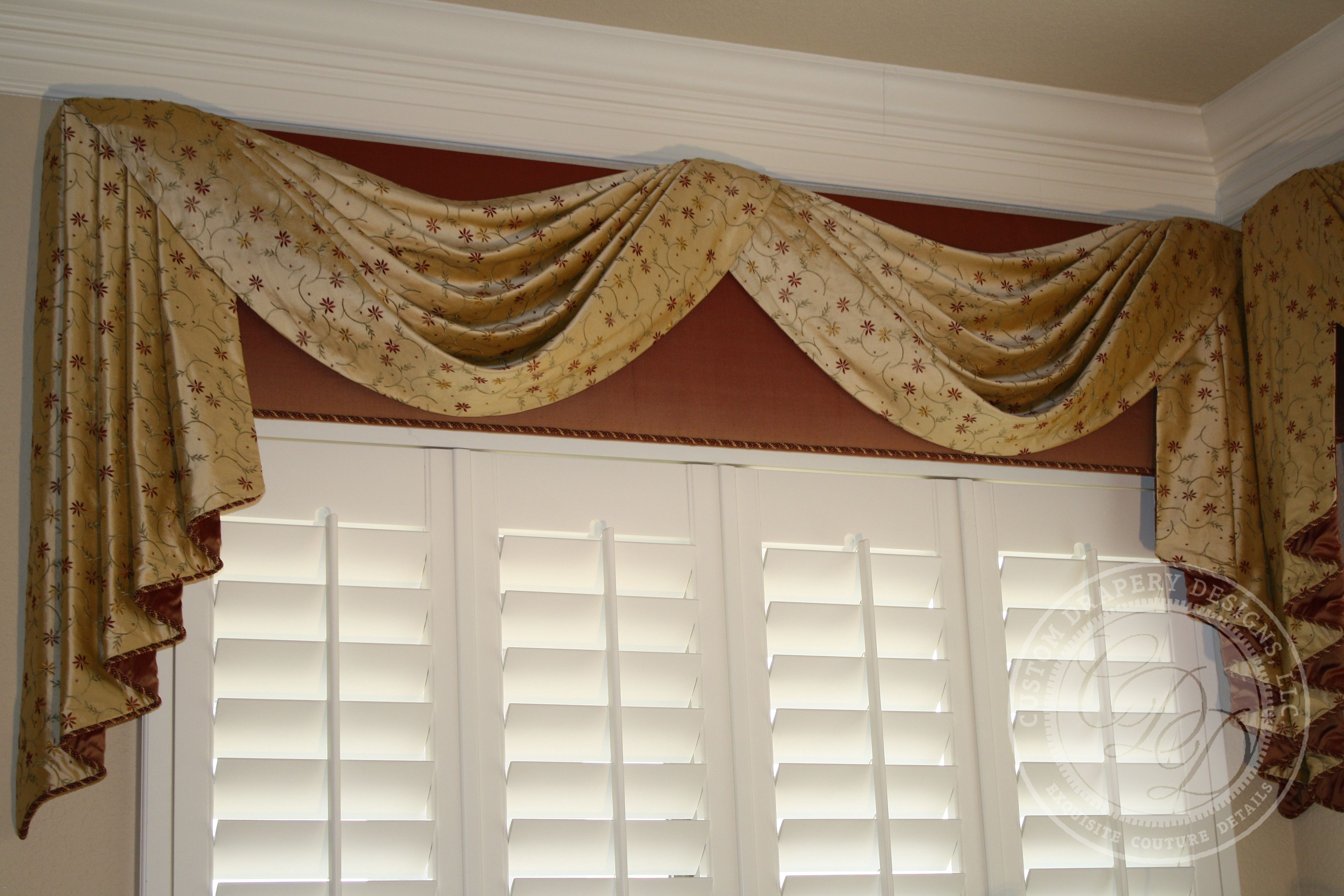 Swags And Cascades Over Cornice