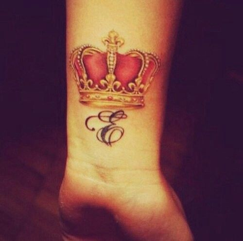 How I want my JD tatt with the crown just no color or maybe hints of red in the lettering