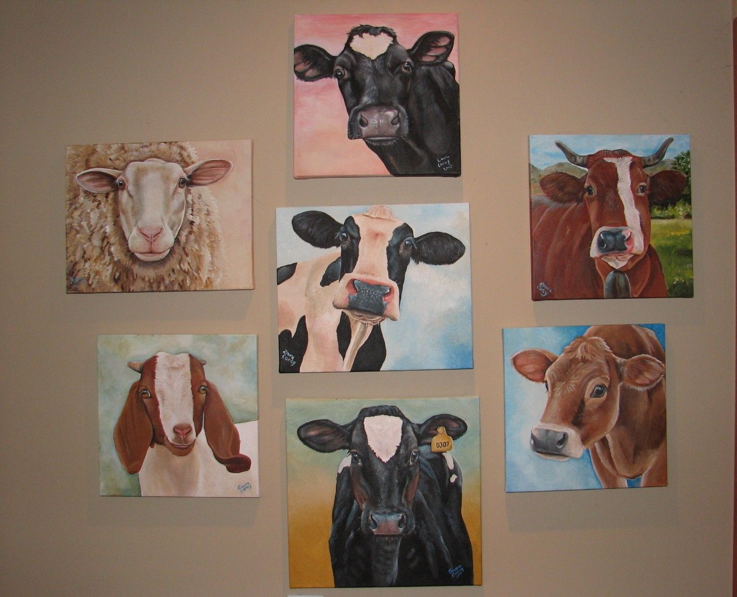 Love this girls Cow paintings I'm thinking Dad a gift!