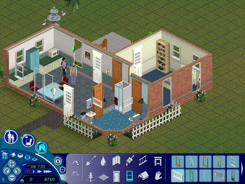 Sims 1 Newbie Household Plantas, Casas