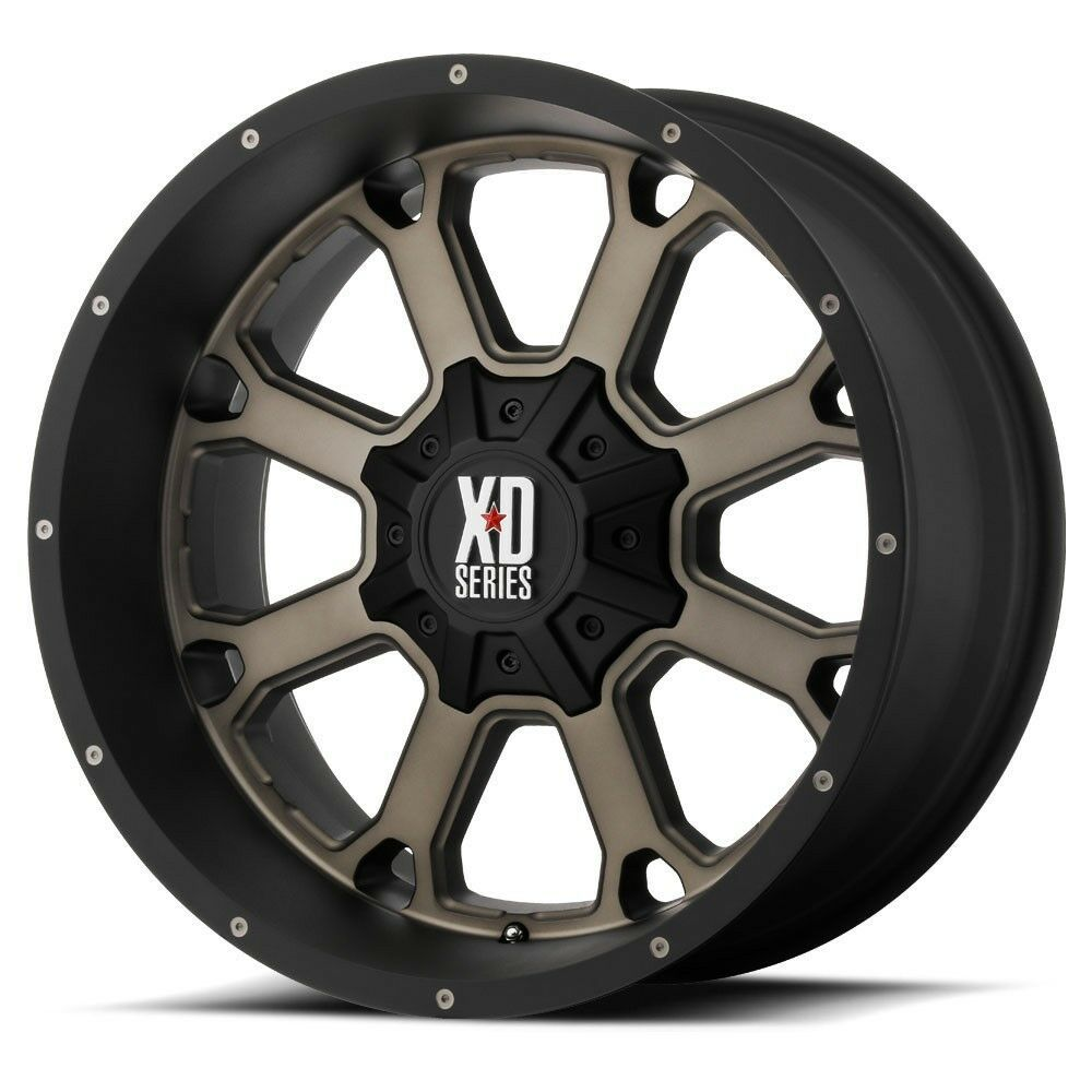 "20"" XD Series XD825 Buck Black Dark Tint Wheel 20x10 5x5"