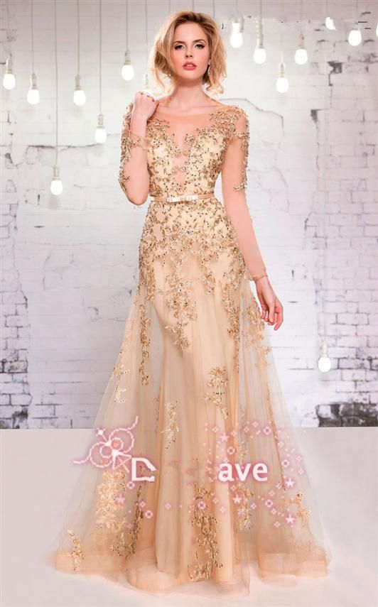 Evening Dress Short Sexy New Sheer Evening Dress 2015 Long Sleeves Tulle Applique Beaded Formal Party Women Prom Gowns Size 22 Evening Dresses From Ebelz005, $209.43| Dhgate.Com