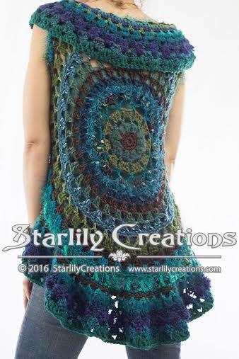 Boho Crochet Mandala Vest Pattern By Starlilycreations On Etsy