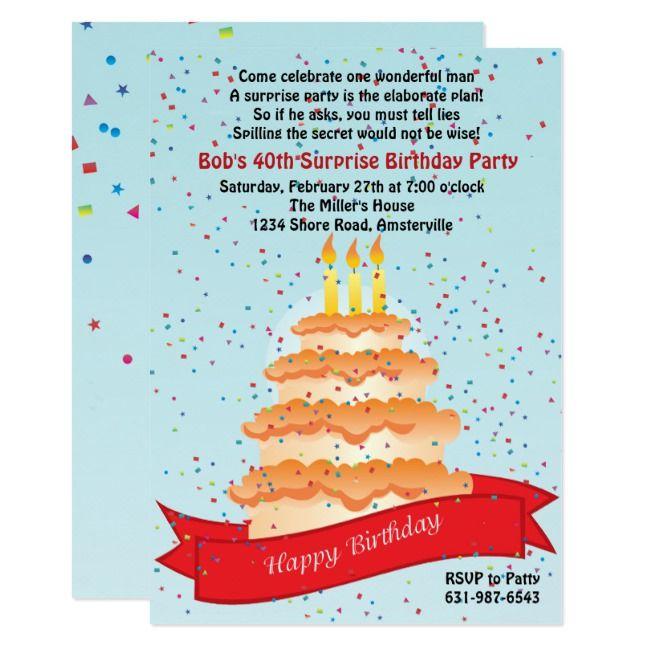 Birthday Confetti Invitation Ad Affiliate Invitationcreated ConfettiShop