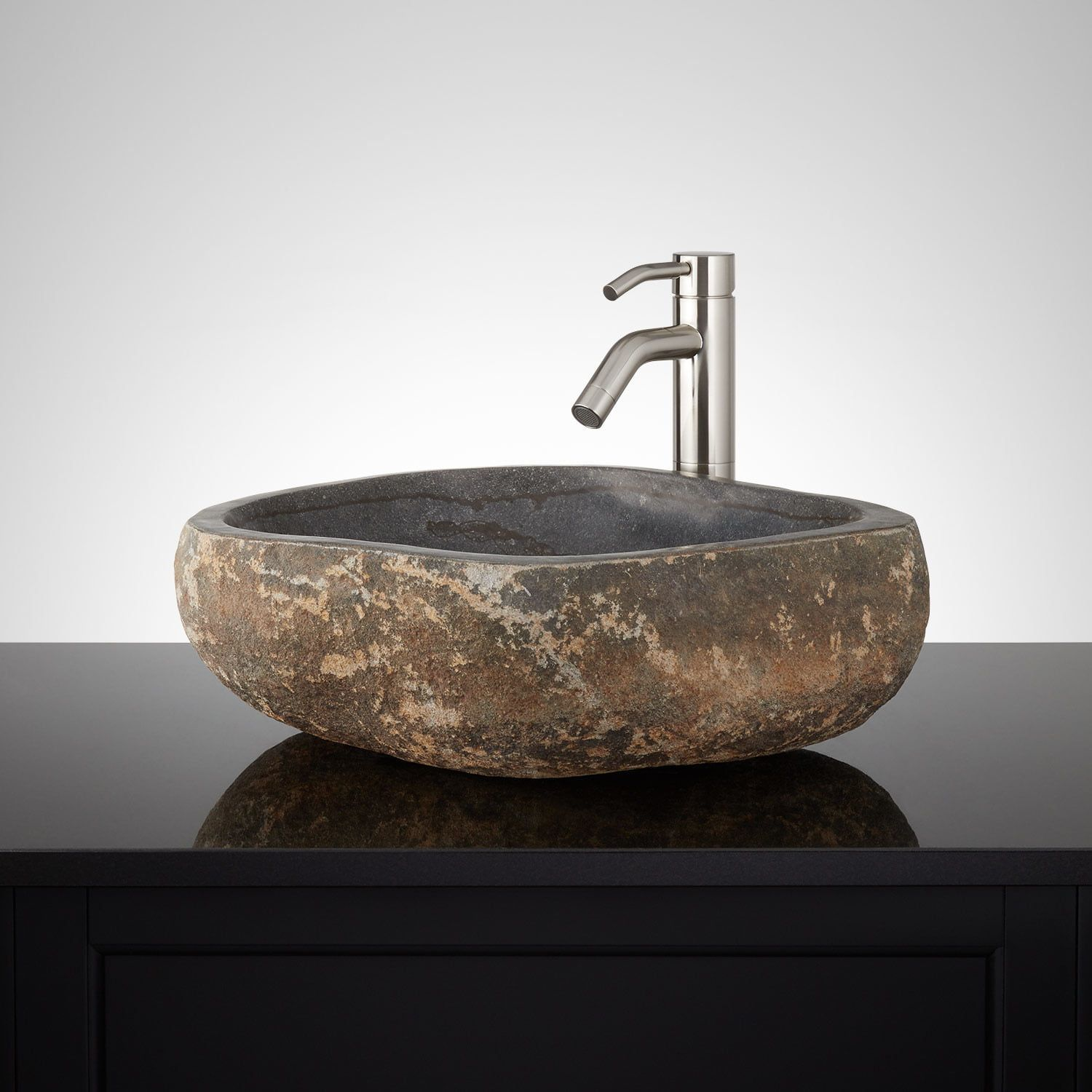 Elevate Your Bathroom S Style With The Leominster Gray River Stone