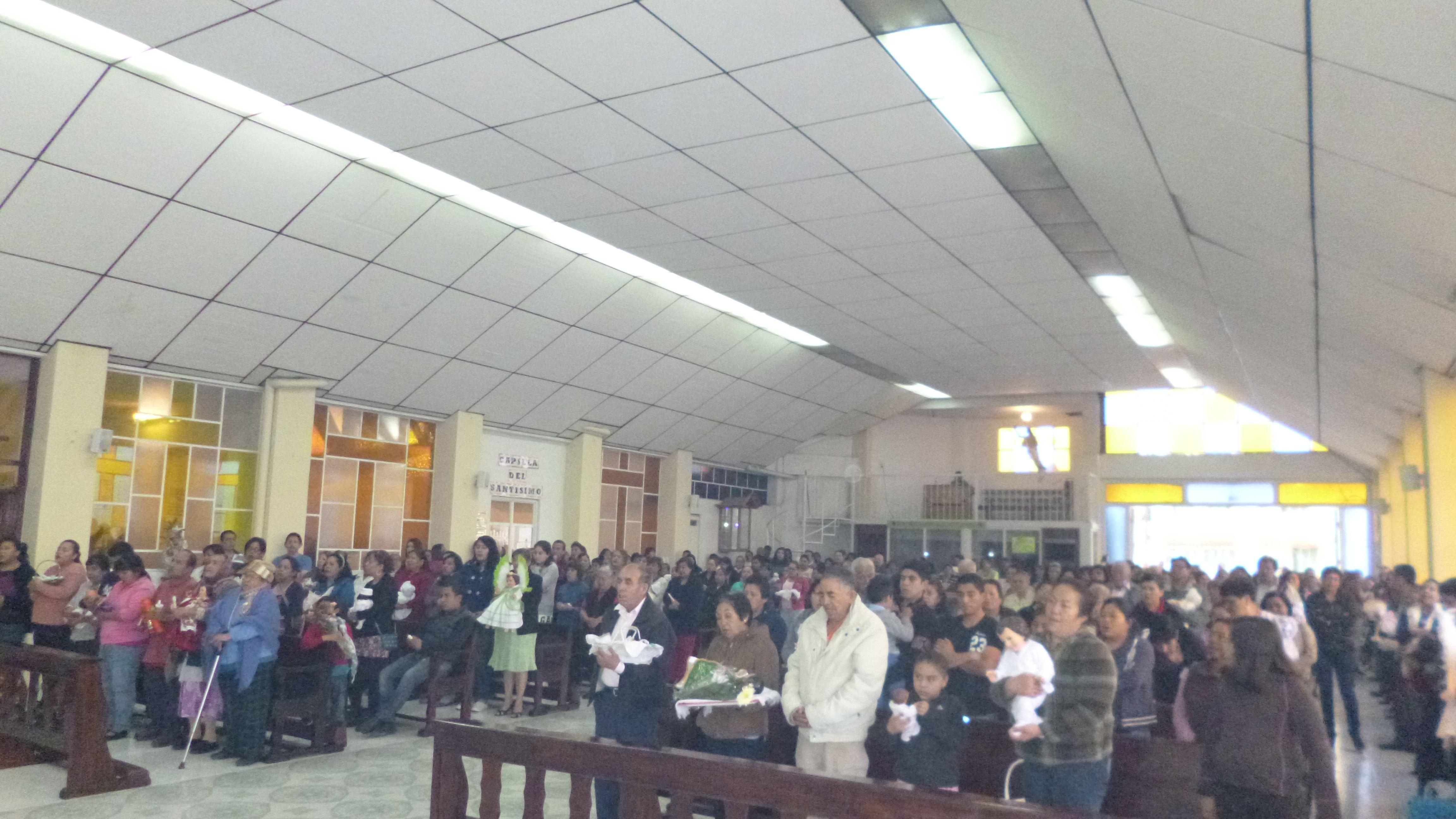 Celebración Eucarística de la presentación del Señor 5:00 Pm Capilla Virgen de Guadalupe.