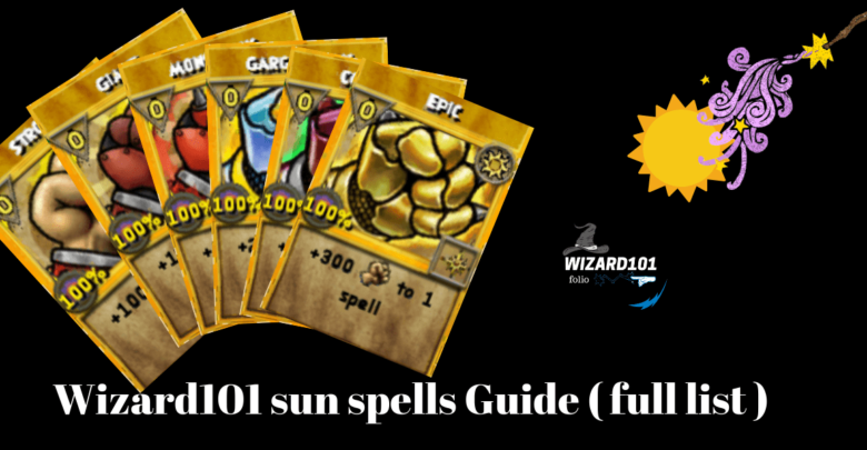 Check Out Sun Spells Guide By Wizard101folio Wizard101 Spelling Sun