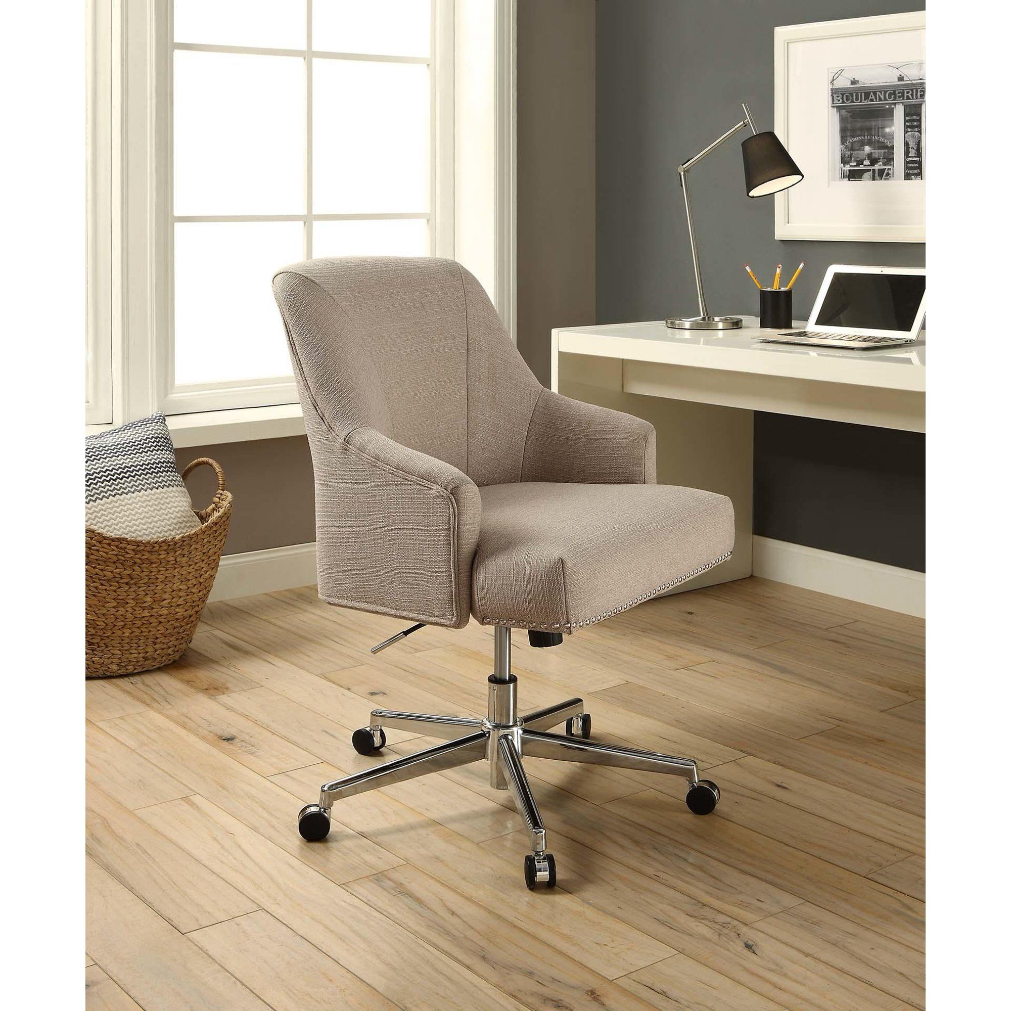 Serta Style Leighton Home Office Chair Beige Twill Fabric Walmart Com In 2020 Home Office Chairs Home Office Chair