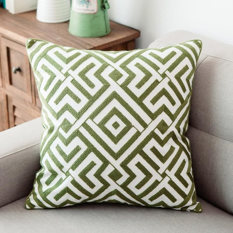 pillow texture green cushion covers
