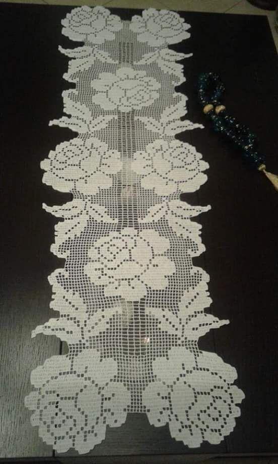 Tapete de rosas ganchillo pepi pinterest tapetes for Tapetes de ganchillo