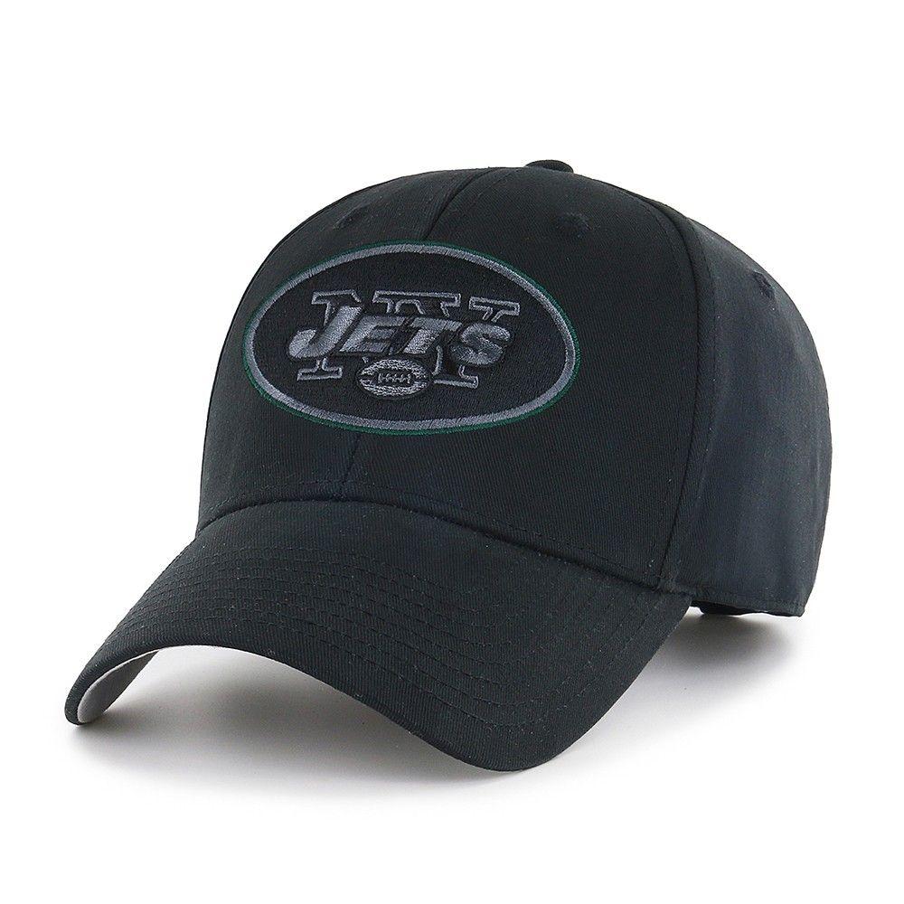 659d7c0f4 NFL New York Jets Classic Black Adjustable Cap Hat by Fan Favorite ...