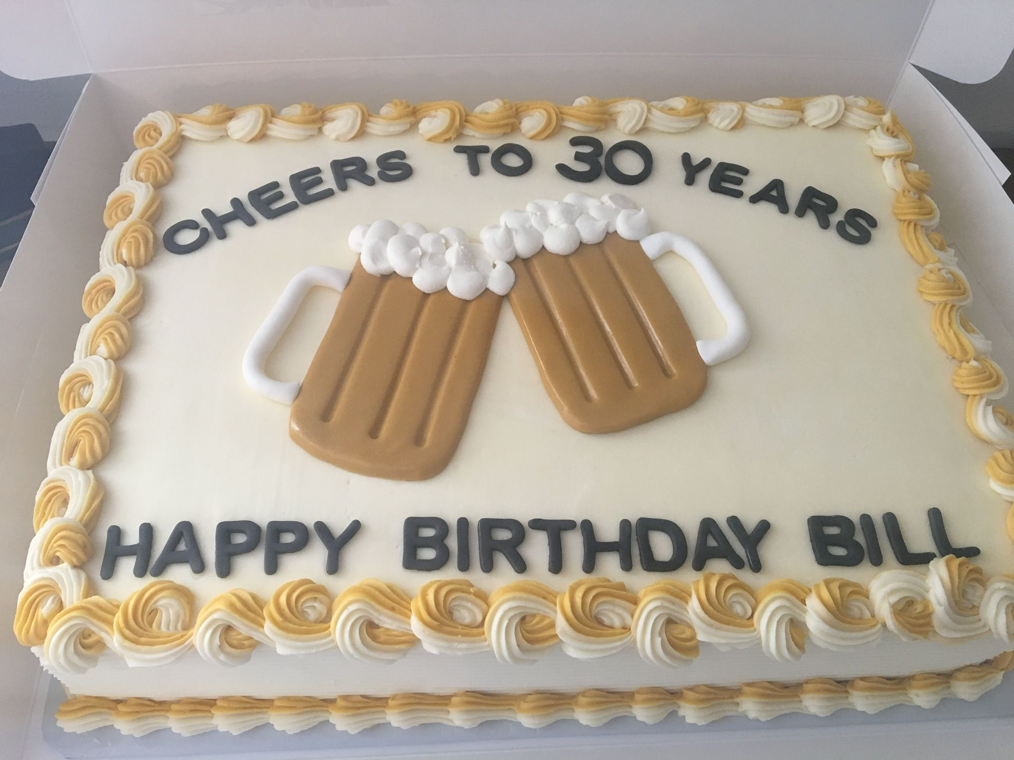 Cheers To 30 Years Birthday Cake Dad Birthday Cakes Birthday