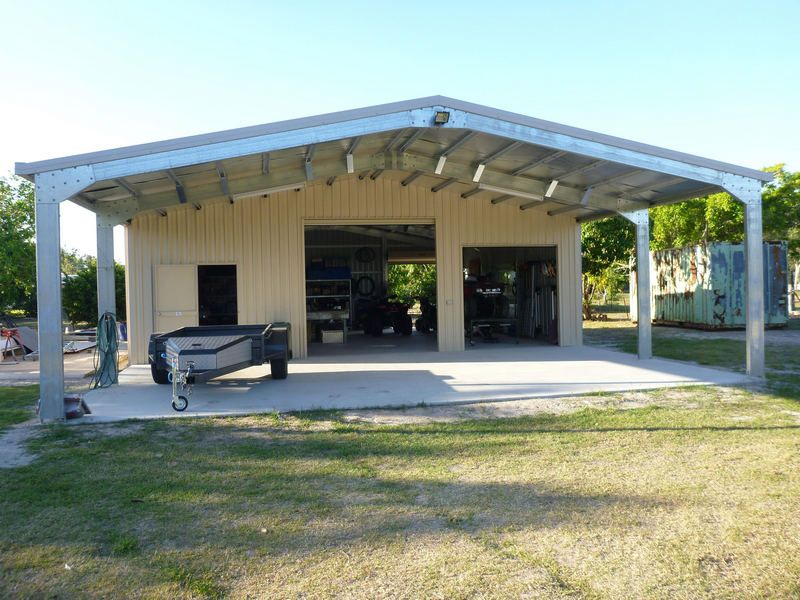 garage with carport Front Carports Sheds