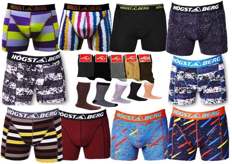 10 Pack Högstaberg Boxershorts +5 Par Strumpor | Snygga