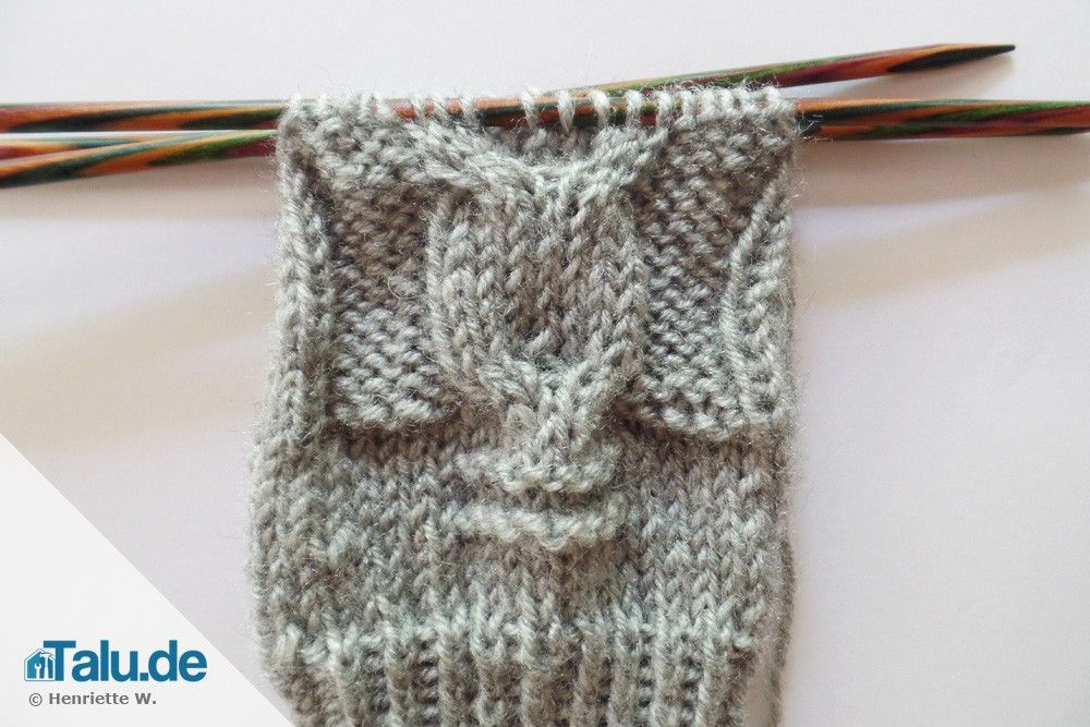 Photo of Knit arm warmers – simple DIY instructions for owl patterns – Talu.de