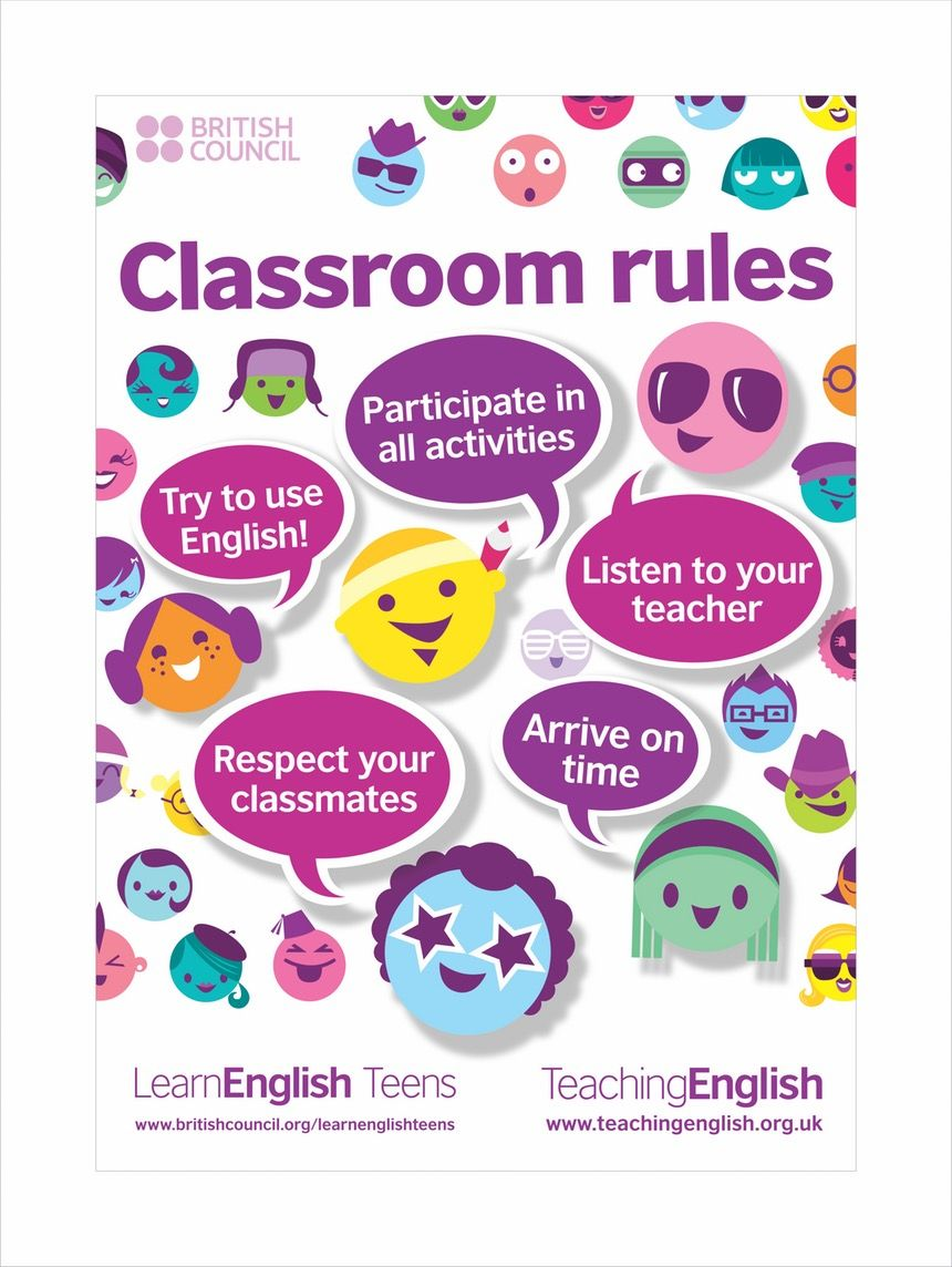 Another Way To Show The Rules English Classroom Posters Classroom Rules Poster Classroom Posters [ 1144 x 860 Pixel ]