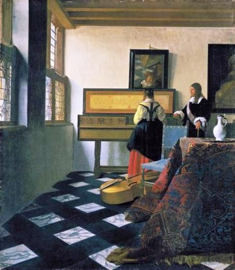 Johannes Vermeer - The Music Lesson - c. 1662-c.1665