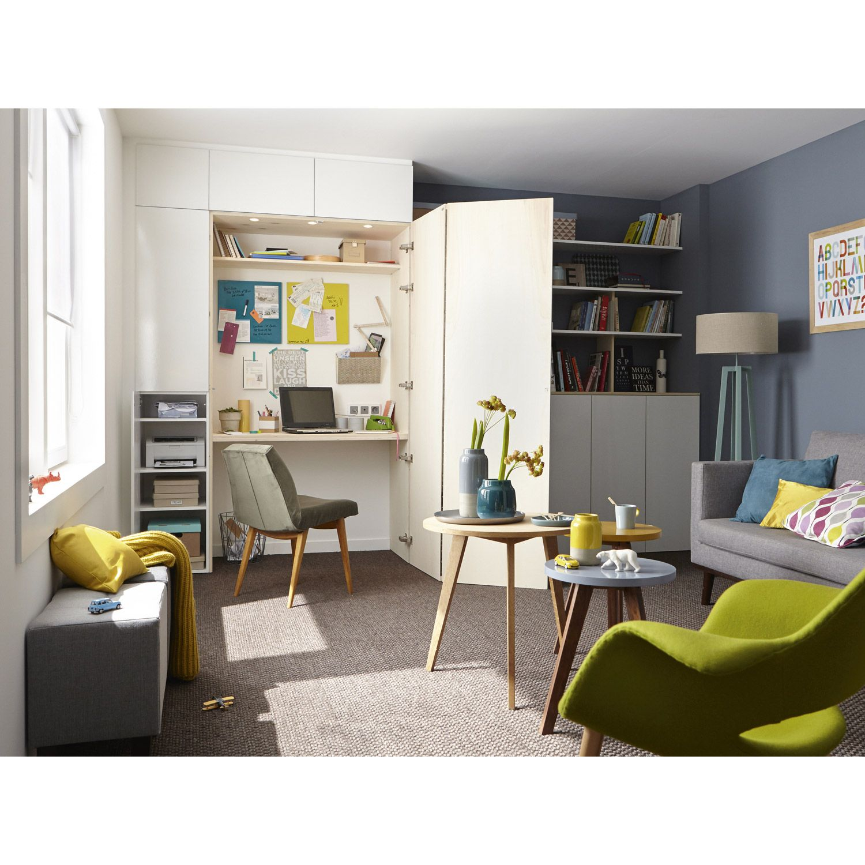 Bureau Cache La Porte Ouverte Sert De Paravent Surface D Affichage Home Desk Home Decor Interior