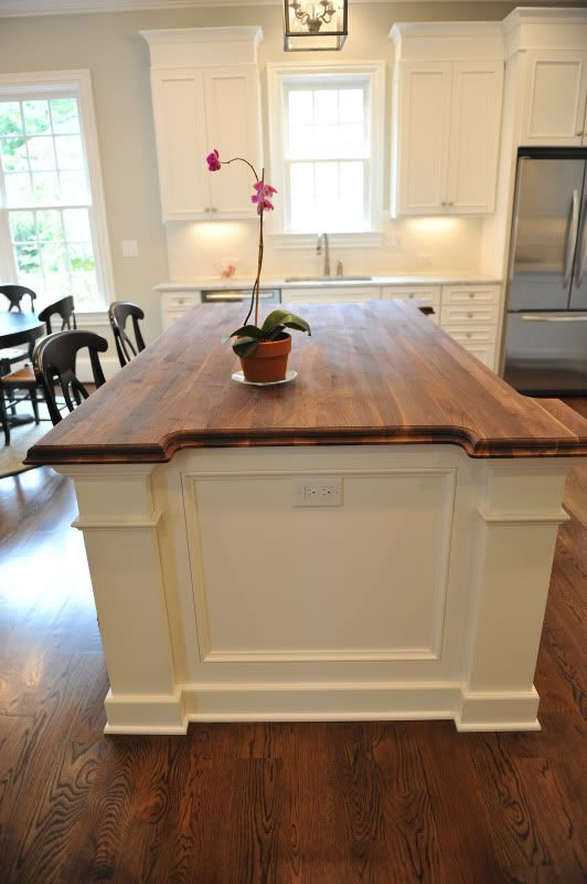 Oiled Walnut Island Counter Floors 5 Wide White Oak Stained 75 Jacobean 24 Dark Walnut Home Kitchens Kitchen Design Kitchen Remodel
