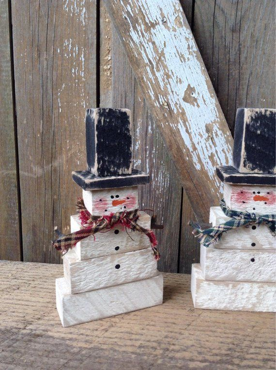 Photo of Primitive Snowman, Country Primitive, Wood Snowman, Primitive snowmen, snowmen, …
