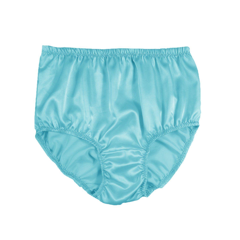 2f16cde95f20 Luxurious Sissy Silky Knickers Full Briefs Panty Womens Underwear Shiny  Silk Satin Panties Wedding Gift Honeymoon Bridal Lingerie Mint Blue