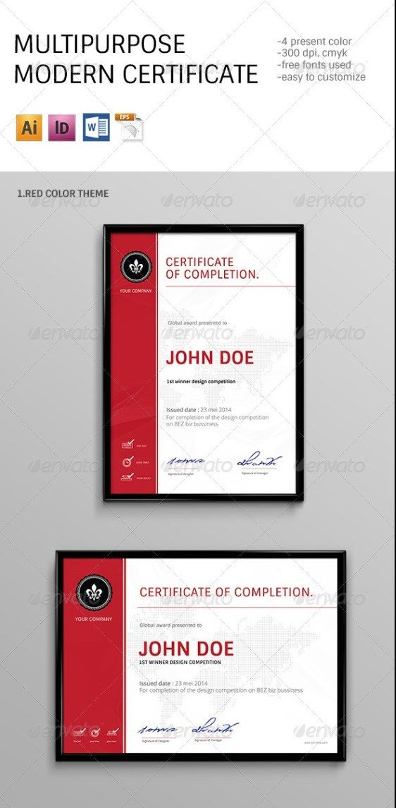 Modern Multipurpose Certificates Templates Certificates