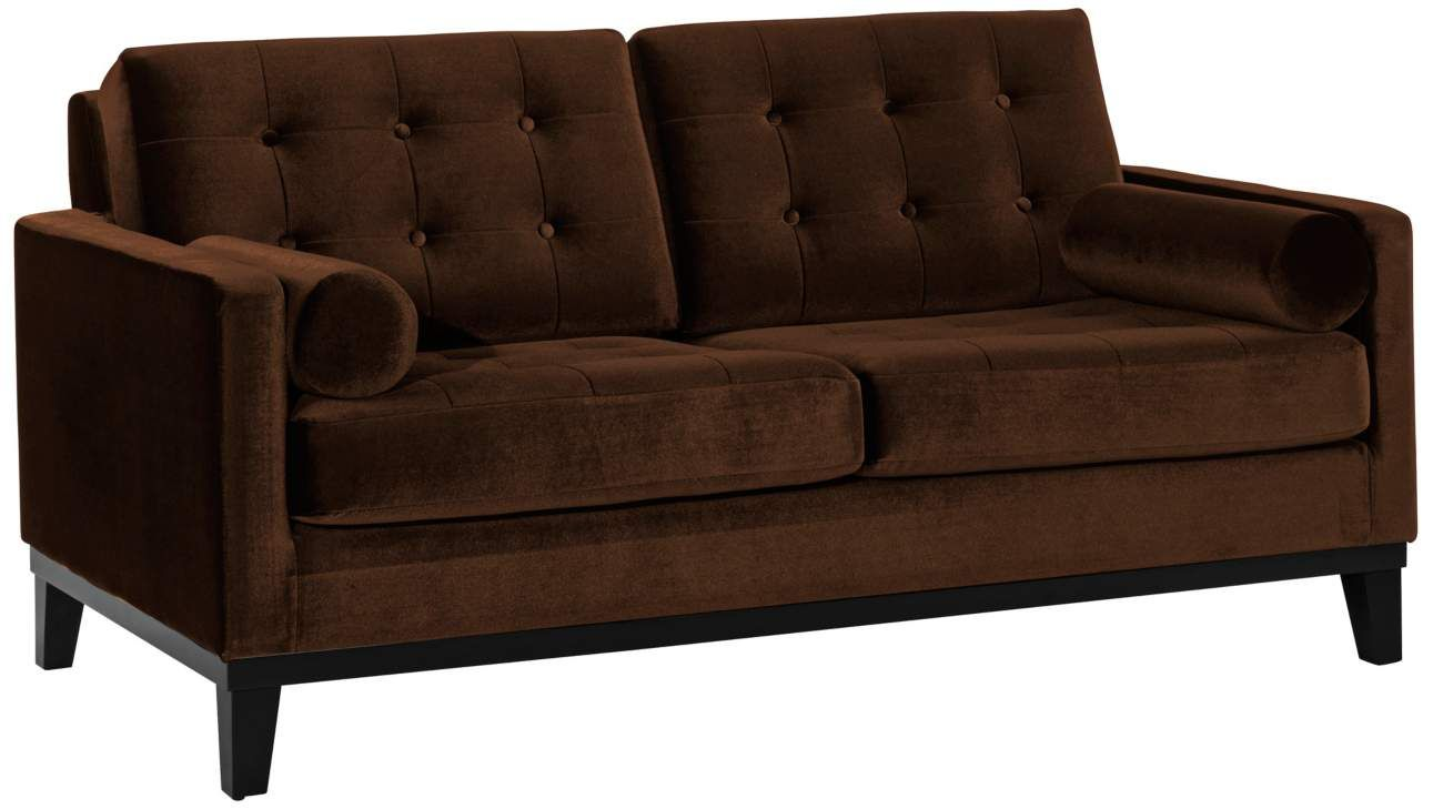 Centennial Brown Velvet 68 Inch W Loveseat Interiordesign Sofa