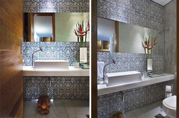 Das Casas para as Ruas Azulejo Português! Banheiros Pinterest