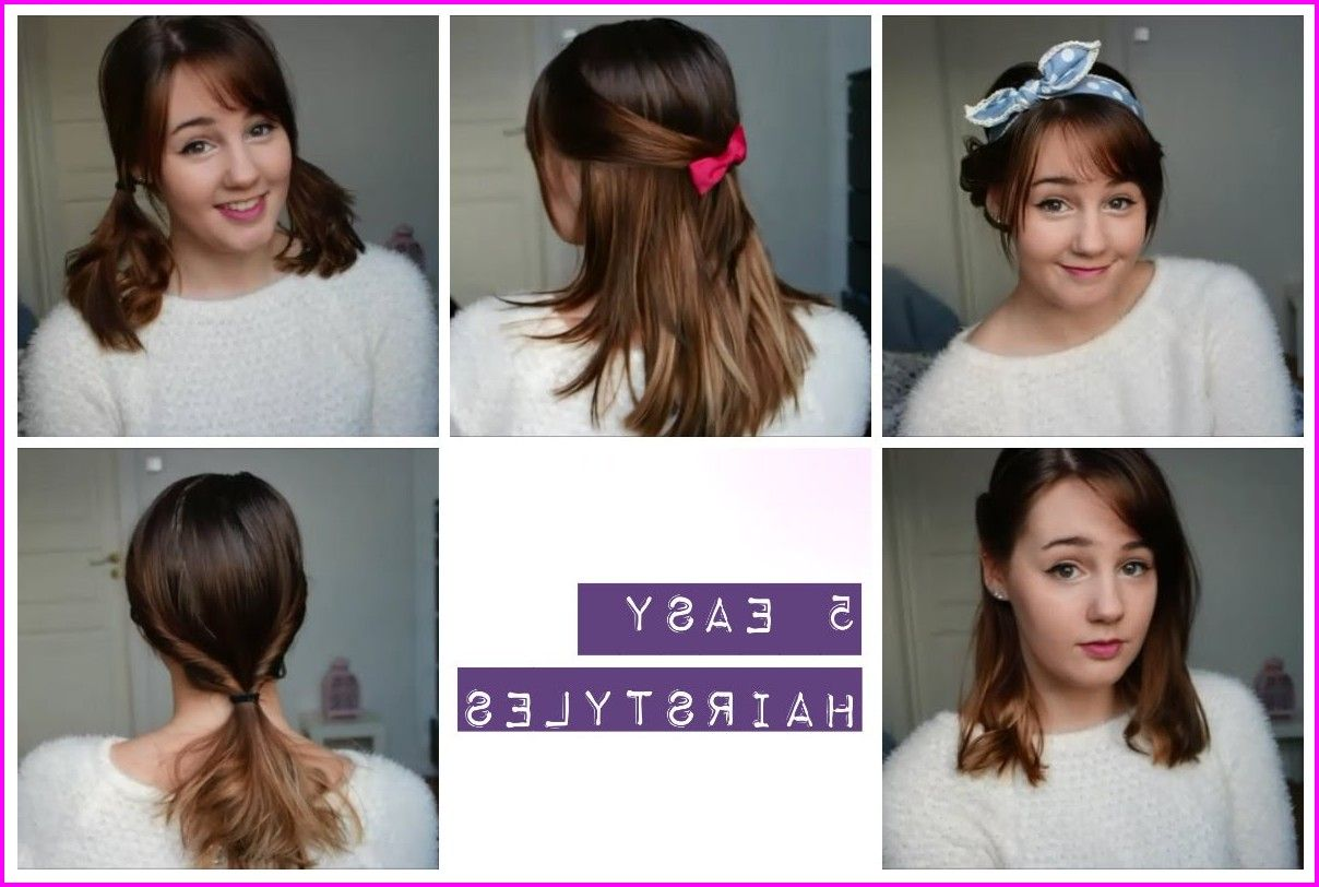 easy and cute hairstyles for mediumlength hair cute short