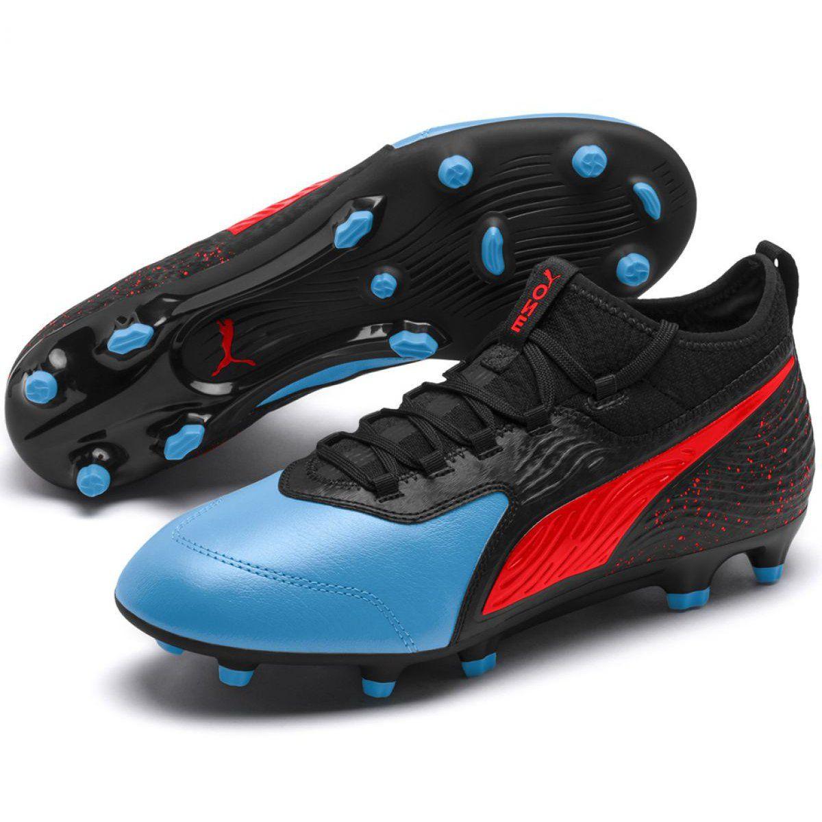 Buty Pilkarskie Puma One 19 3 Fg Ag M 105486 01 Czarne Czarne Football Boots Soccer Cleats Football Shoes