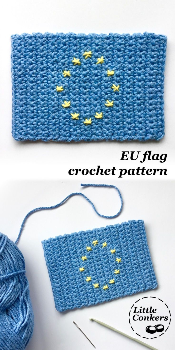 European Flag Crochet Pattern | European flags, Conkers and Flags