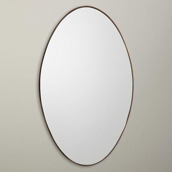 Buy John Lewis Oval Mirror, Antique Brass Edge, 100 x 70cm Online at johnlewis.com