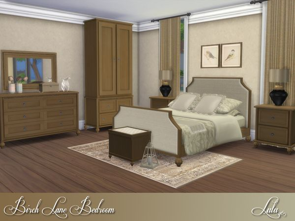 Birch Lane Bedroom by Lulu265 at TSR \u2022 Sims 4 Updates Los sims 4 - Lane Bedroom Furniture