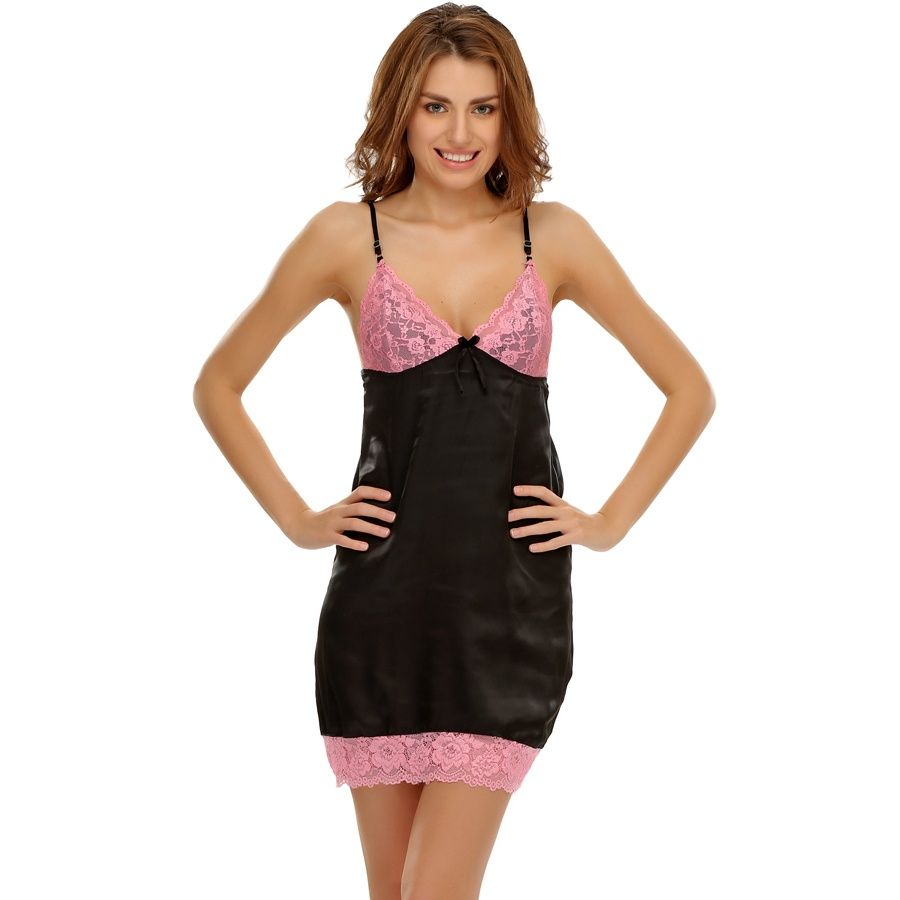 176c243bea Black  amp  Pink Sexy Babydoll With Laces