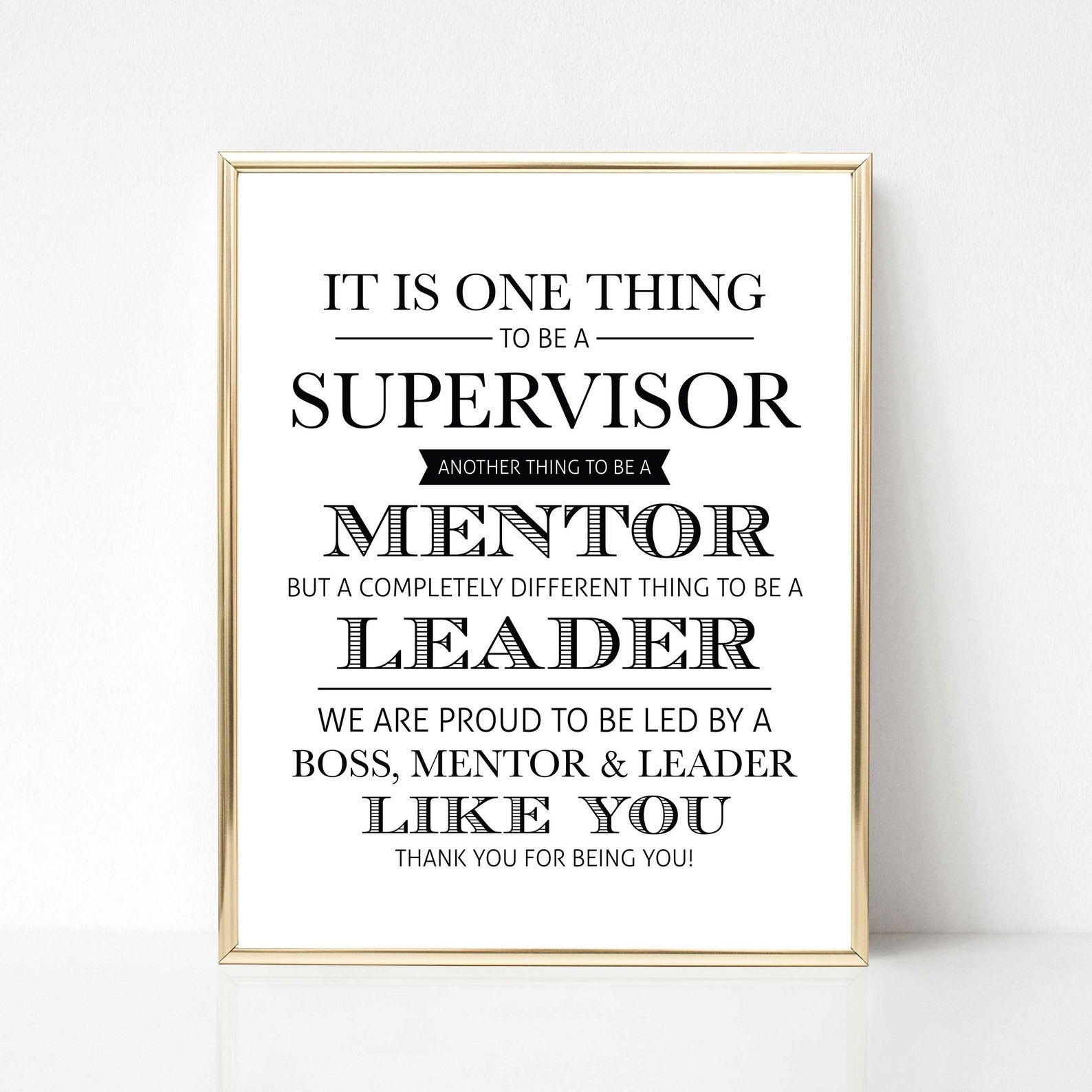 Digital Supervisor Quote Gift We Version Best Boss Quote Etsy Best Boss Quotes Boss Quotes Supervisor Quotes