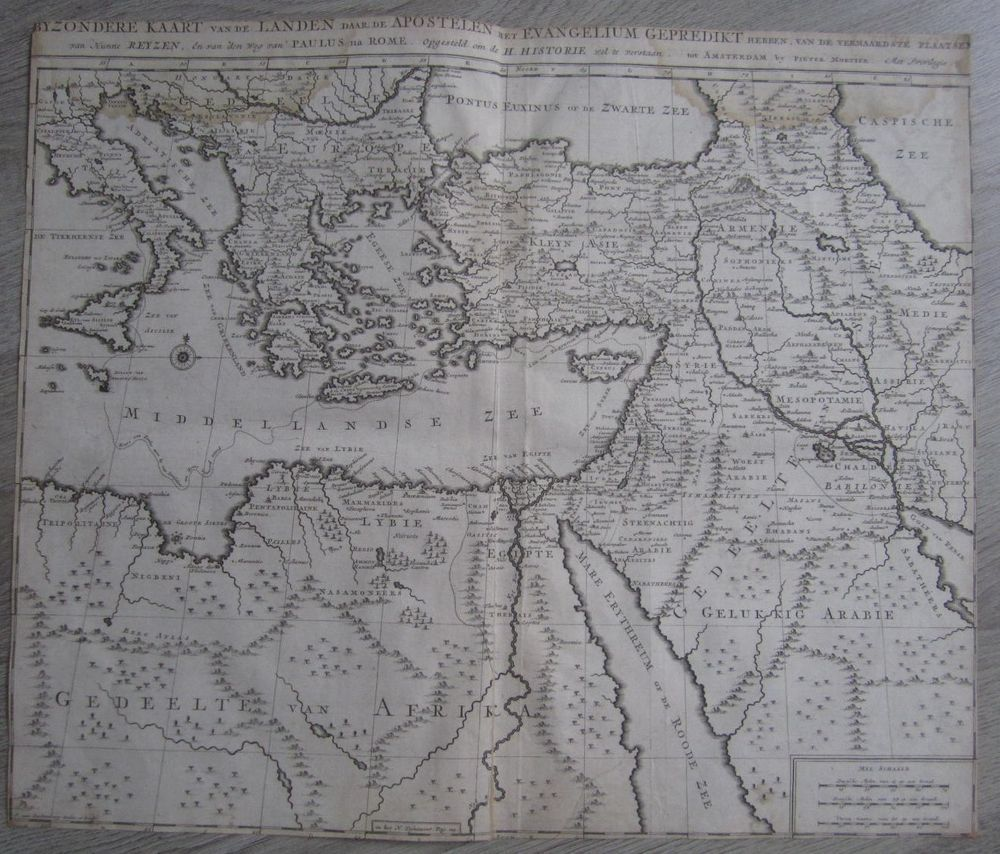 1700 Antique map Mortier Luchtenburg Middle