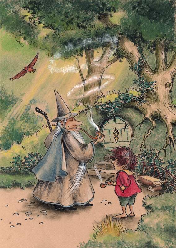 Gandalf's Visit by asiapasek.deviantart.com on @DeviantArt
