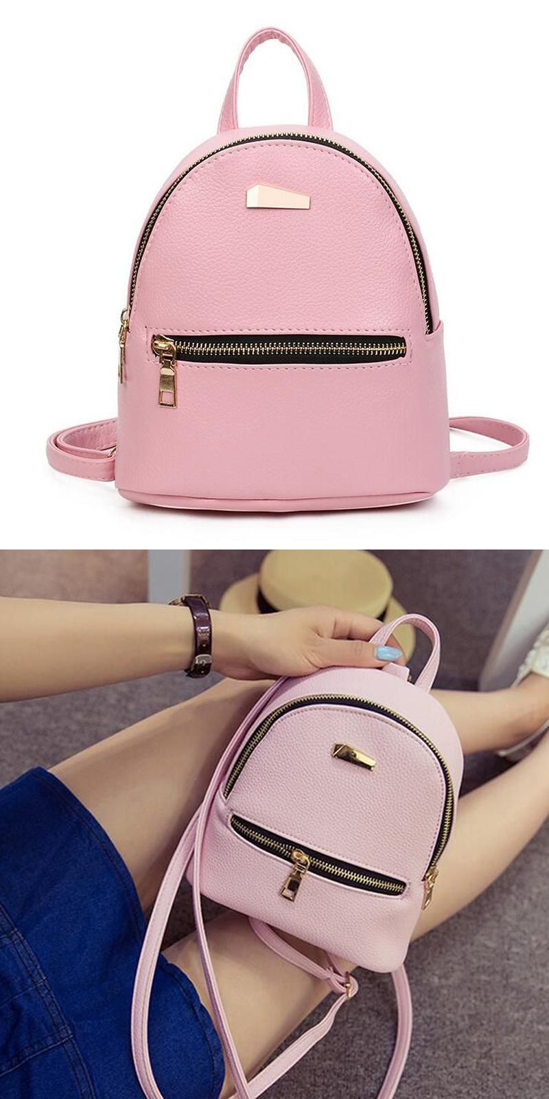 b6659c658c  Visit to Buy  fashion Mini Backpack For Teenage Girls School Bags high  quality Female