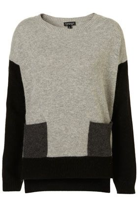 Knitted Colour Block Jumper - DIY this out of two jumpers