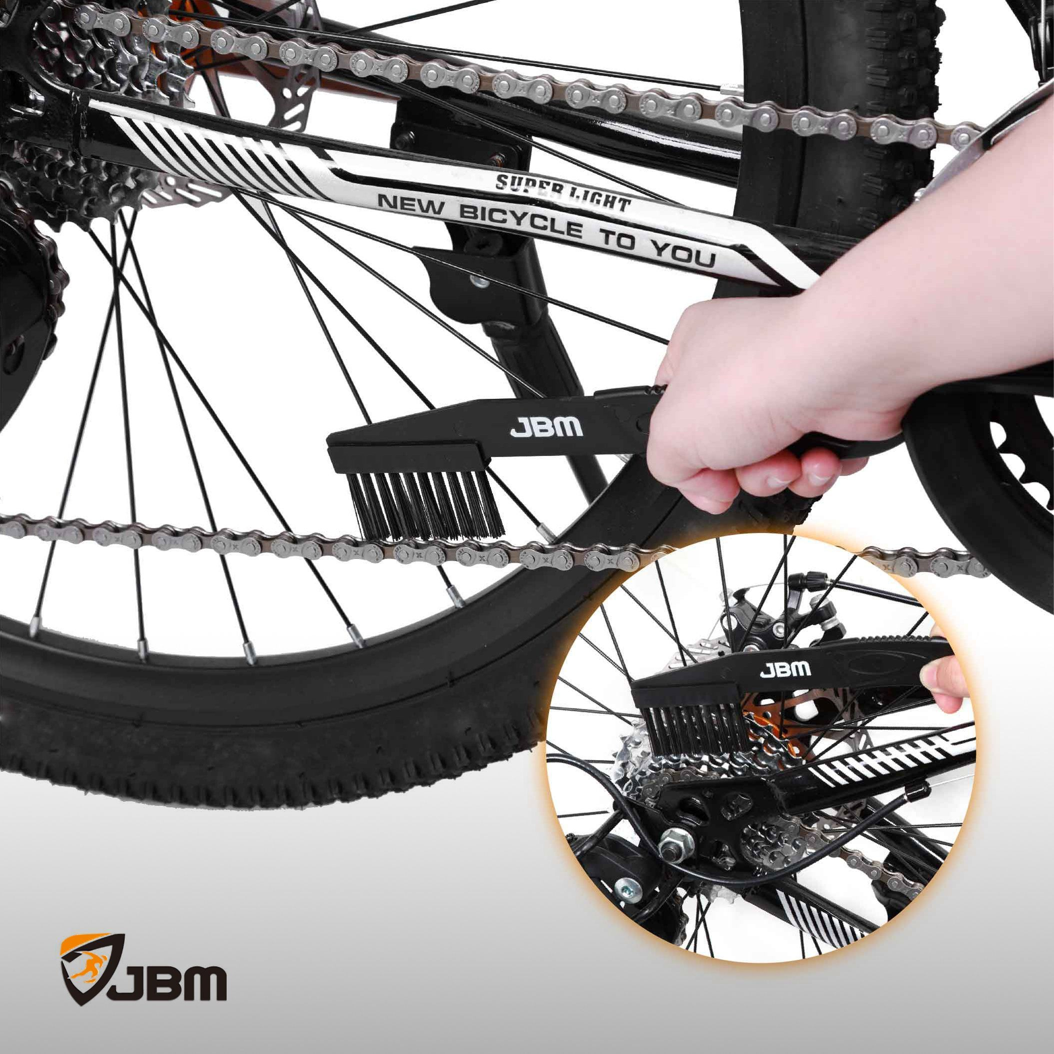 Jbm Bike Chain Cleaner Bicycle Chain Cleaning Brush Tool 3 Pieces