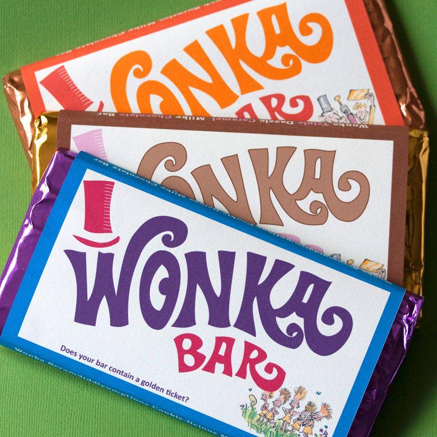 Scrumdiddlyumptious Wonka Bar Invites: How to make your ...